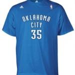 Oklahoma City Thunder Kevin Durant Adidas Blue T Shirt