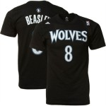 adidas Minnesota Timberwolves #8 Michael Beasley Black Net Number T-shirt