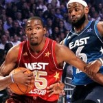 kevin durant lebron james 2012 nba all-star game