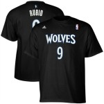 adidas Ricky Rubio Minnesota Timberwolves #9 Net Number Player T-Shirt - Black