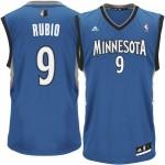 adidas Ricky Rubio Minnesota Timberwolves Revoultion 30 Replica Jersey - Slate Blue