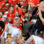 olympiacos celebrates 2012 euroleague title