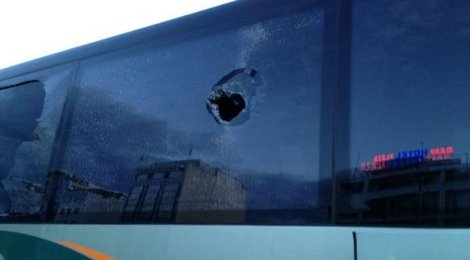 panathinaikos bus attacked