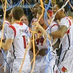 louisville cardinals celebrate 2013 ncaa title