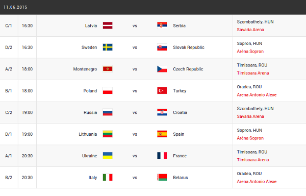 eurobasket women day 1 schedule