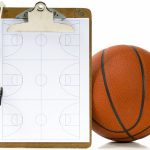 basketball ball and clipboard